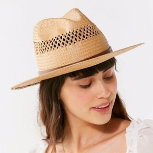 Urban Outfitters NWT Brixton Case Straw Fedora